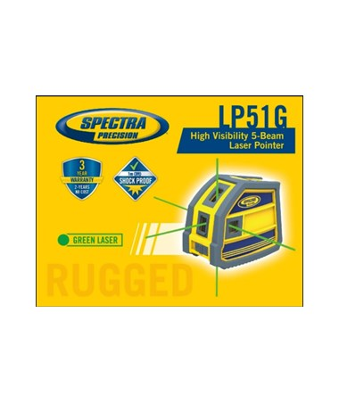 Spectra LP51G 5-Point Green Beam Laser Level