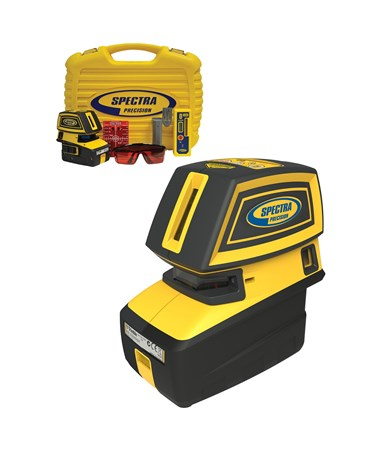 Spectra LT52R 5-Point and 2-Cross Line Laser Level