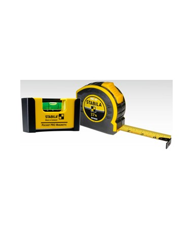 Stabila Quick Check Pocket Level and Tape Measure Set STA11927