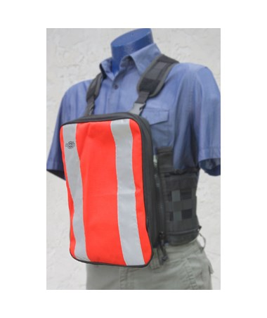 Large Orange Plain Front Cover for Tablet Ex Gear Standard Chest Pack TABFC-Pln-Or-L1017