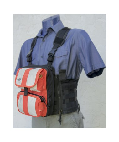 Front Cover with Pockets for Tablet Ex Gear Ruxton Standard Chest Pack TABFC-Poc-B-S1017-