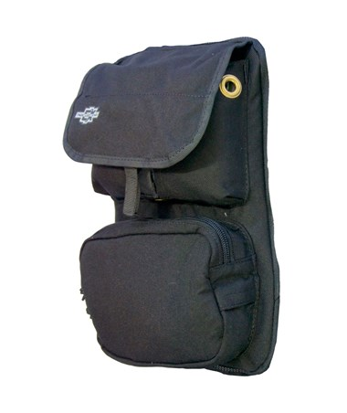 Large Black Front Cover with Pockets for Tablet Ex Gear Ruxton Standard Chest Pack TABFC-Poc-B-L1017