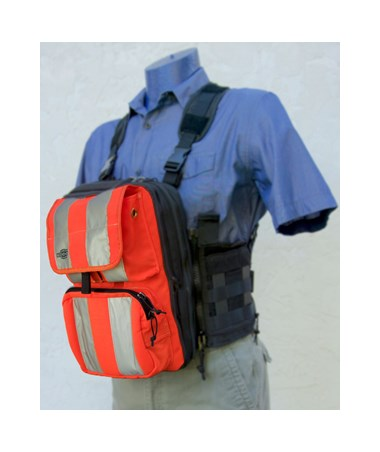 Front Cover with Pockets for Tablet Ex Gear Ruxton Standard Chest Pack Large Orange TABFC-Poc-Or-L1017