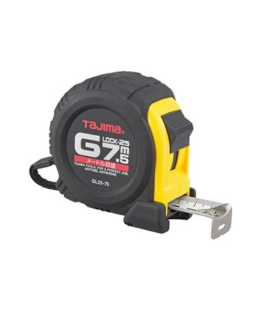 Tajima G-Series Shock Resistant Metric Scale Tape Measure, (7.5 Meters) G-7.5MBW