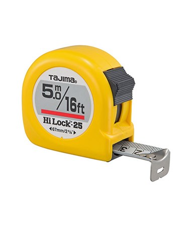 Tajima Hi-Lock Dual Scale Tape Measure TAJHL-16-5BW-