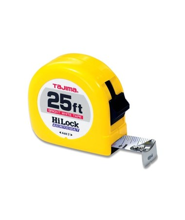 Tajima Hi-Lock Standard Scale Tape Measure 25 feet HL-25BW