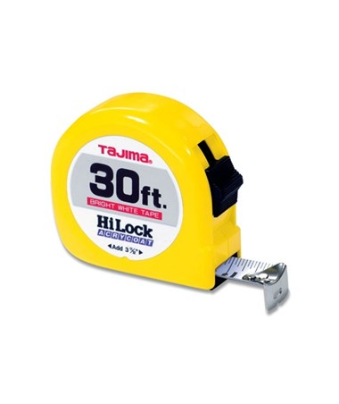 Tajima Hi-Lock Standard Scale Tape Measure 30 feet HL-30BW