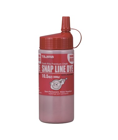 Tajima Snap Line Dye Semi-Permanent Marking Chalk 300g /10.5 oz, Dark Red PLC3-DR300