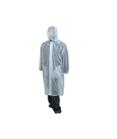 "48"" Clear Coat - Detachable Hood - Pockets - Cape Back - Retail Packaged TINC61210"