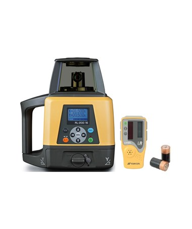 Topcon RL-200 1S Single Grade Laser with LS-80L Laser Receiver and Alkaline Battery