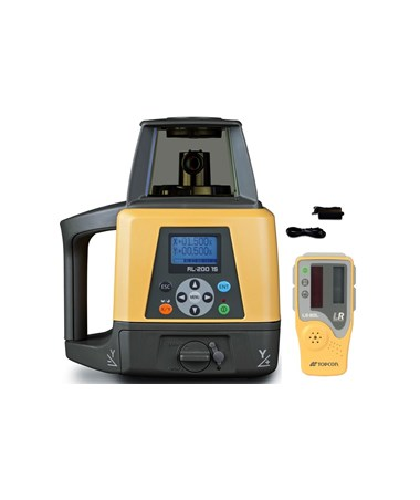 Topcon RL-200 1S Single Grade Laser with LS-80L Laser Receiver with Rechargeable Battery