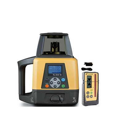 Topcon RL-200 1S Single Grade Laser with LS-100D Laser Receiver and Rechargeable Battery