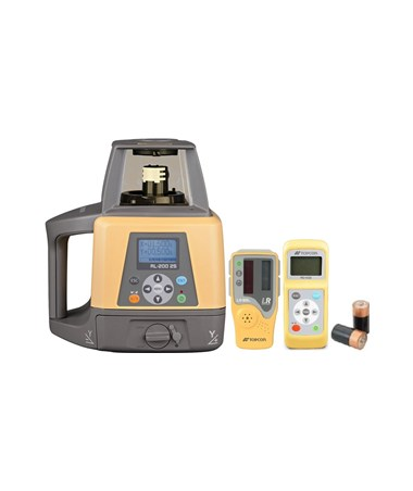 Topcon RL-200 2S Dual Grade Laser with LS-80L Laser Receiver and Alkaline Battery