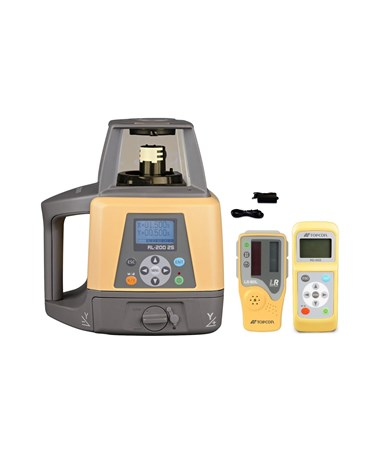 Topcon RL-200 2S Dual Grade Laser with LS-80L Laser Receiver and Rechargeable Battery