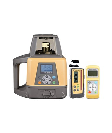 Topcon RL-200 2S Dual Grade Laser with LS-100D Laser Receiver and Rechargeable Battery