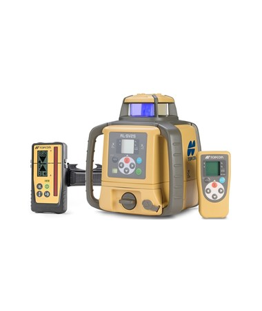 Topcon RL-SV2S Dual Grade Laser with LS-100D Laser Receiver and Rechargeable NiMH Batteries