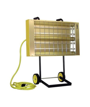 TPI CH Series 2.85 / 5.7 kW, 240 V Portable Quartz Infrared Heater with Cart TPICH64241C