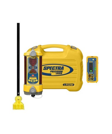 Spectra LR50W Wireless Laser Receiver with RD20 Remote Display, DM-20 Dozer Mount & NiMH Batteries SPELR50W-DM